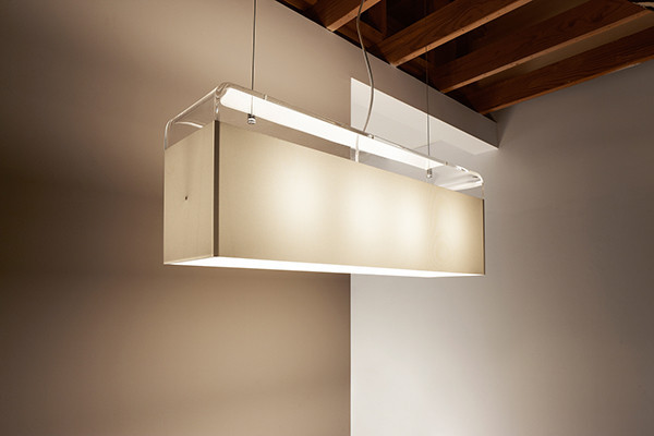 Tube top suspension lamp