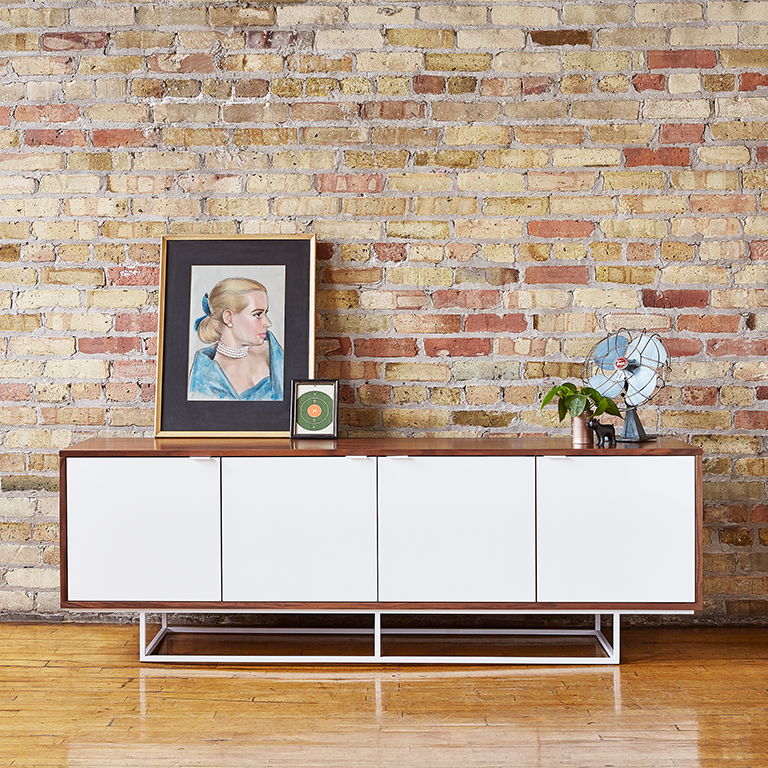 Emerson Credenza - Walnut and White - L01.jpg