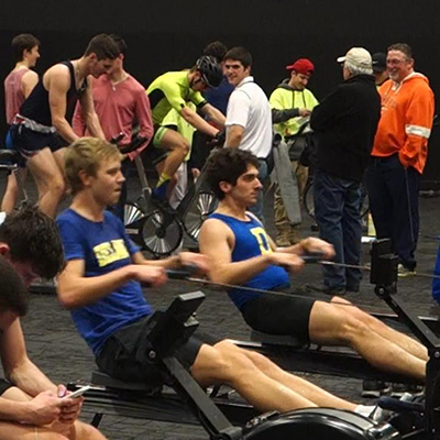The University of Delaware Men's Crew team won the Winter 2017 Race to Raise fundraising competition, the Run, Row, Bike Men's Team Division, and had a teammate win the Run, Row, Bike Individual Men's division. They also had competitors finish second in the Run, Row, Bike Women's Team division.