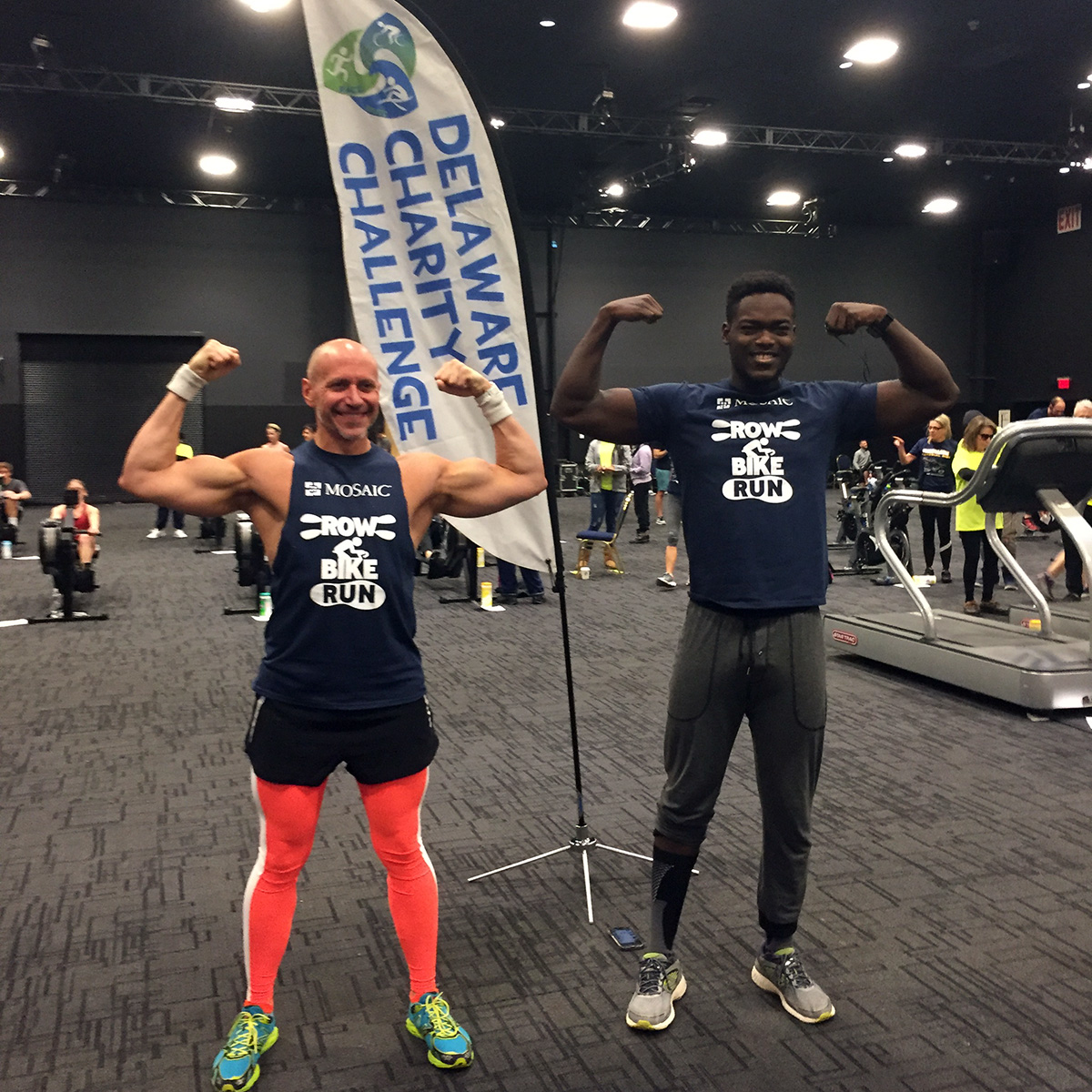 Team Mosaic in Delaware finished 3rd in the Race to Raise fundraising contest and members of the team won the Run, Row, Bike Co-Ed M, M, F division in the indoor triathlon.