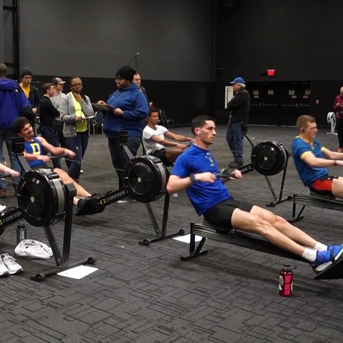 University of Delaware Men's Crew won the Winter Race to Raise fundraising competition for the second year in a row by raising more than $5,000 and also defended its title in the Run, Row, Bike Men's Team division of the indoor triathlon.