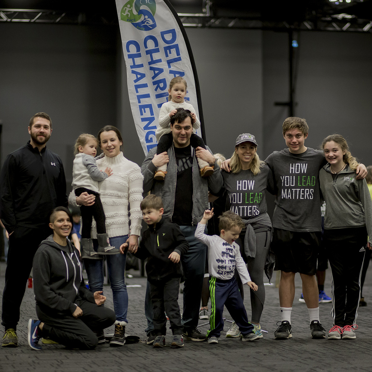 The Mill, a shared community-driven co-working space in Wilmington raised money and awareness for Strive: How You Lead Matters in this winter's indoor triathlon. Photo by  Rebecca Ashton Parsons Photography .