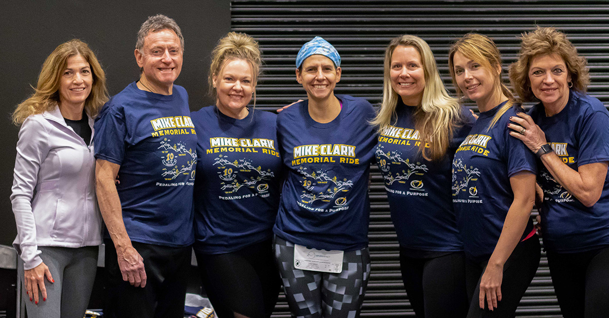 Team Clark's Sharks raised money for Mike Clark Legacy Foundation and won the Run, Row, Bike Women's Team and both the Men's and Women's Individual Run Row, Bike divisions. Photo credit  Four Youth Productions .
