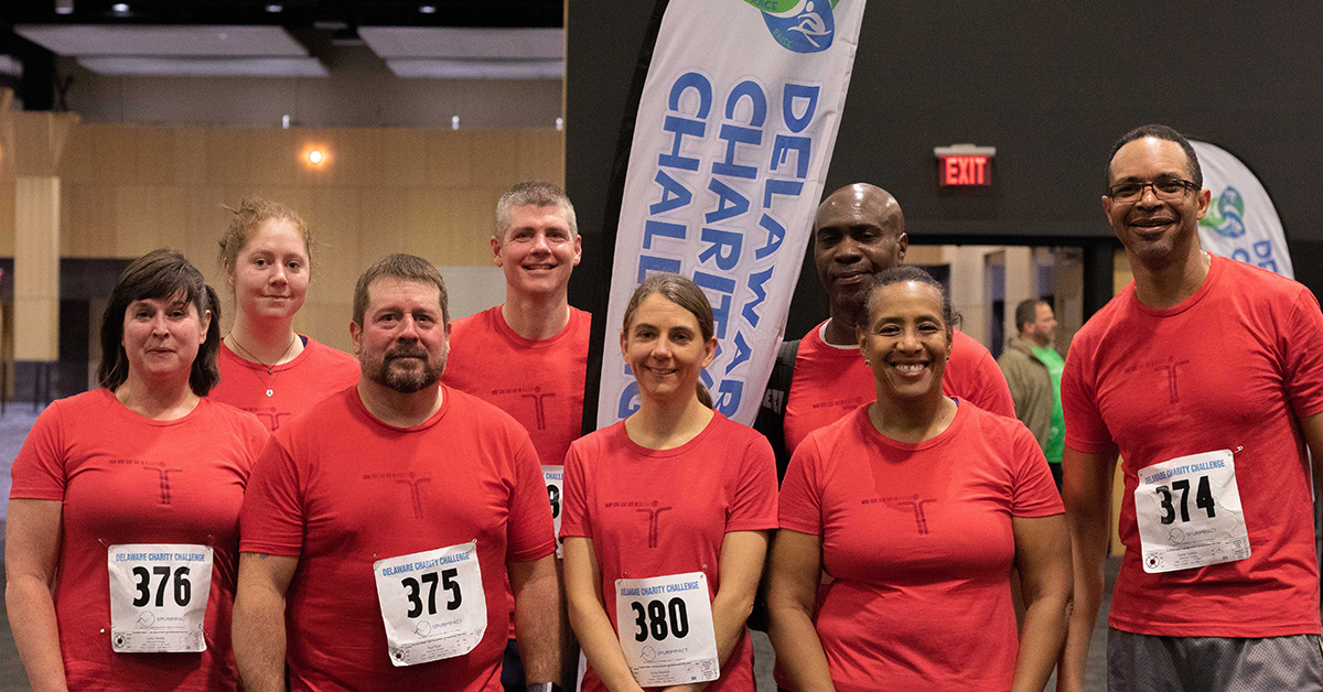 Members of Kirkwood Fitness competed in the 2019 Delaware Charity Challenge winter indoor triathlon and raised money for atTAcK addiction Foundation. Team members also won the Run, Row, Bike Co-Ed M, M, W division in the indoor triathlon. Photo credit  Four Youth Productions .