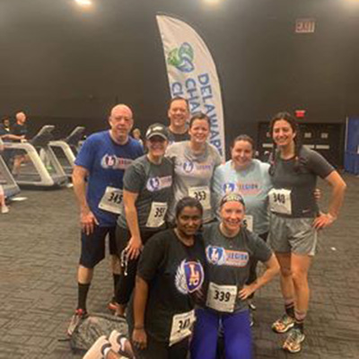 The Legion Transformation team competed in the 2019 Delaware Charity Challenge Winter Games. They were led by Captain Tai Corrado, who finished 3rd in the Run, Row, Bike Individual Women's Division.