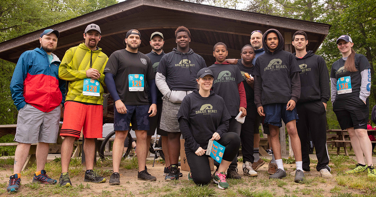 Team Green Beret competed in the Delaware Charity Challenge this Spring, raising $500 for the Green Beret Project and won the Adventure Challenge Relay. Photo by  Four Youth Productions .