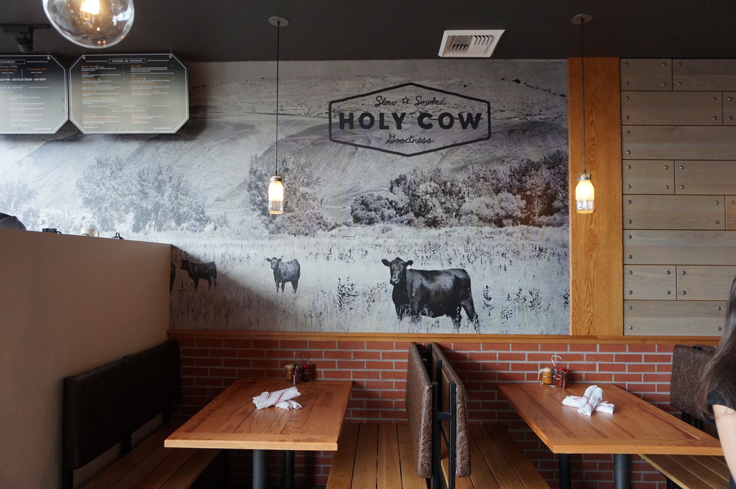 Booths at Holy Cow