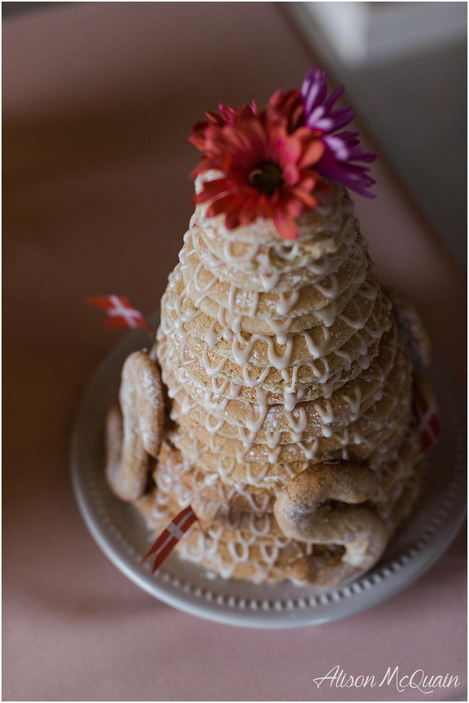 Second wedding cake because Grandma said so. A homemade Danish wedding cake. It was so yum!