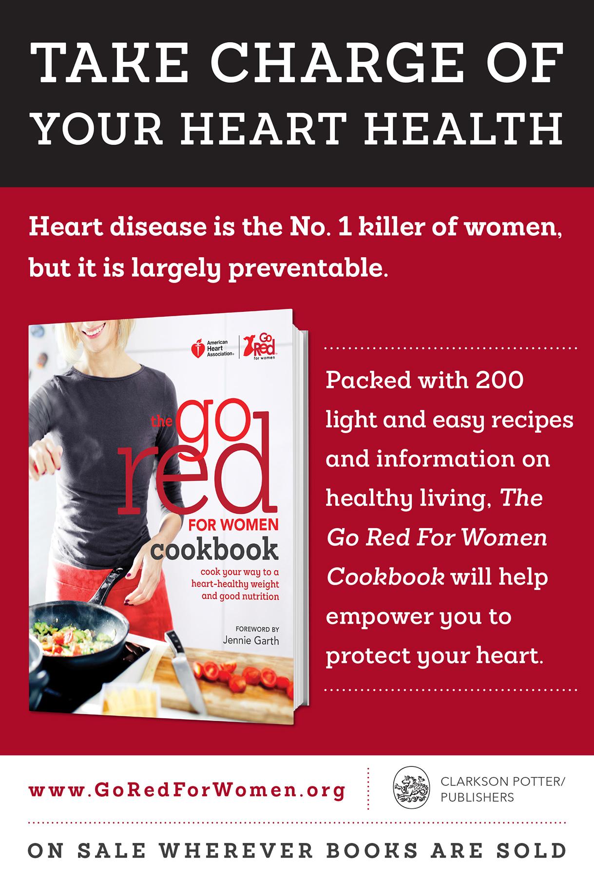 Go Red for Women Cookbook Print Ad for Random House