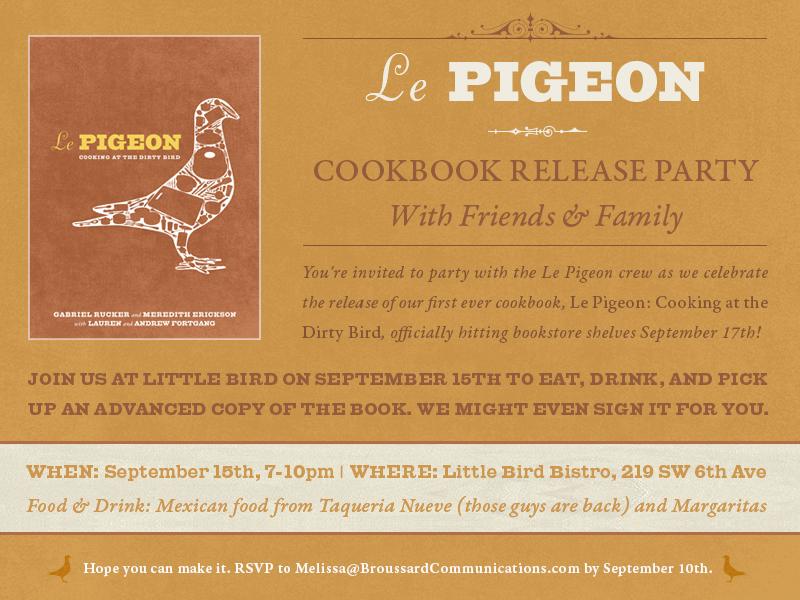 Le PIGEON Evite for Random House