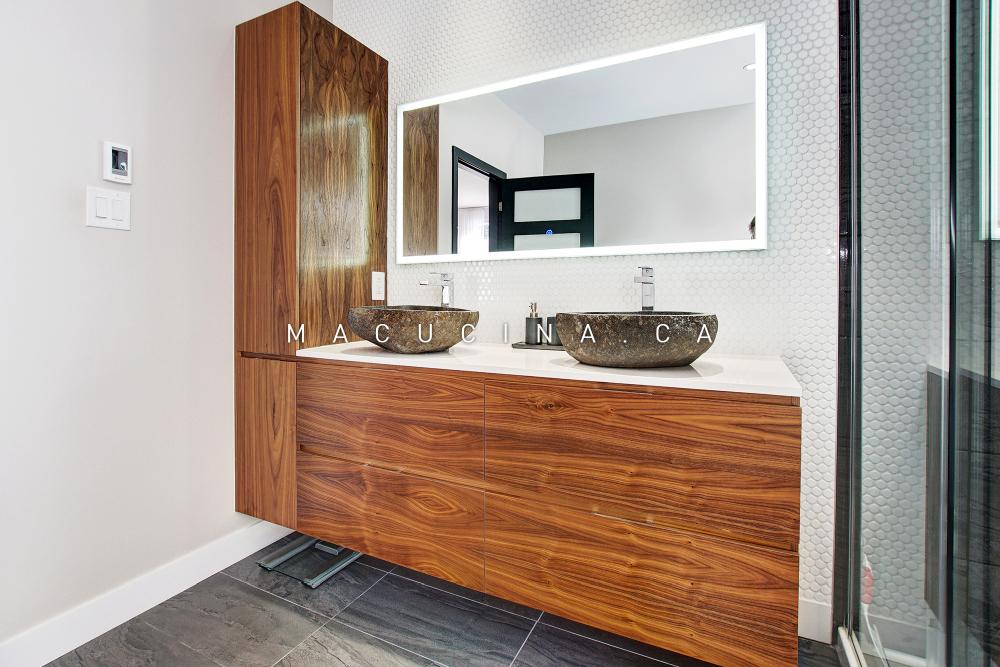 Salle de bain contemporaine Blainville - vue 1