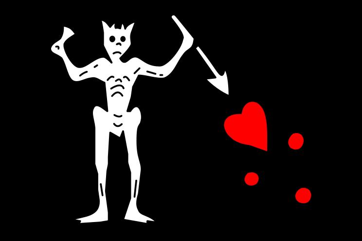 the pirate Blackbeard's flag