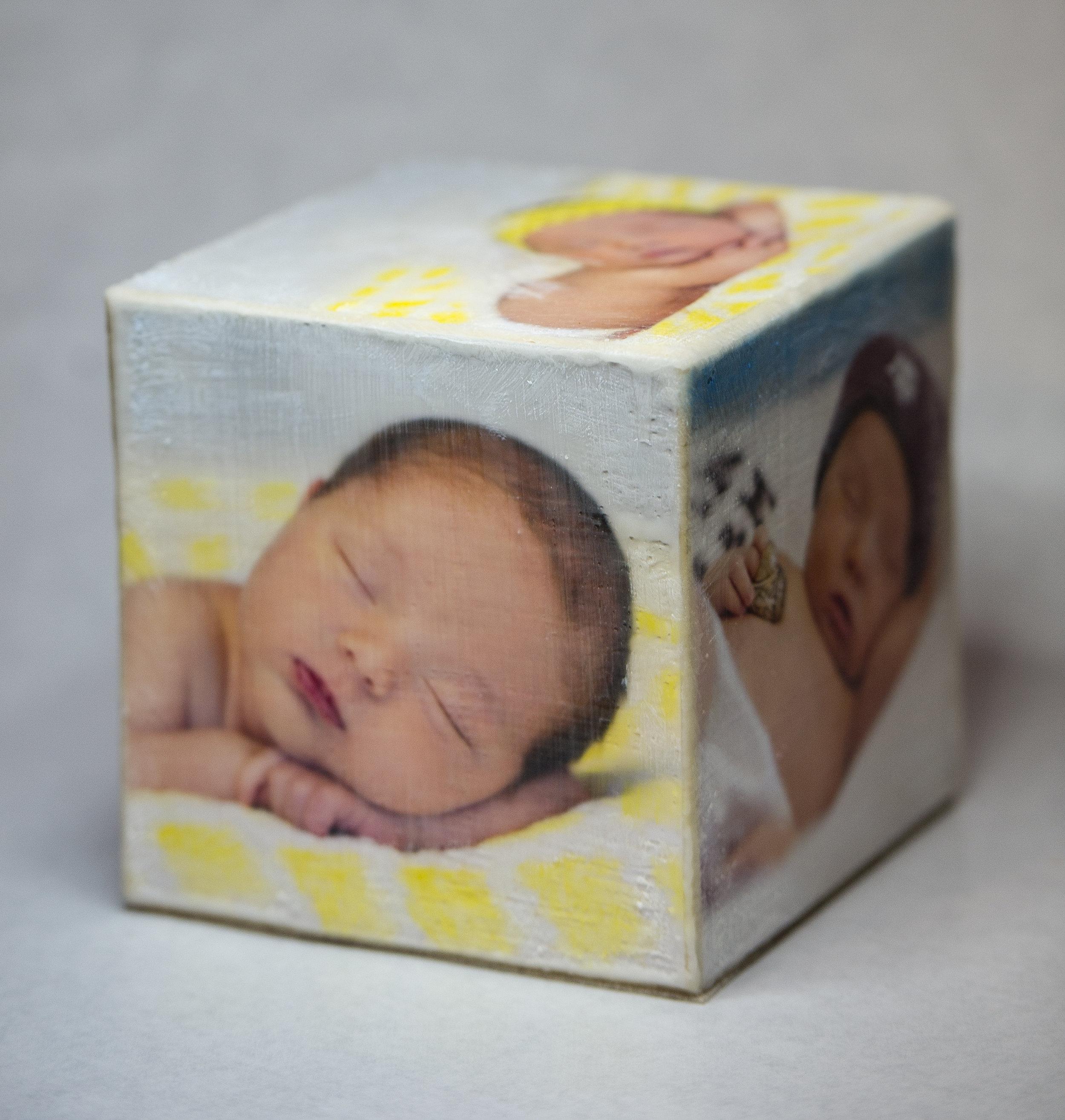 Brushed Photo Cube