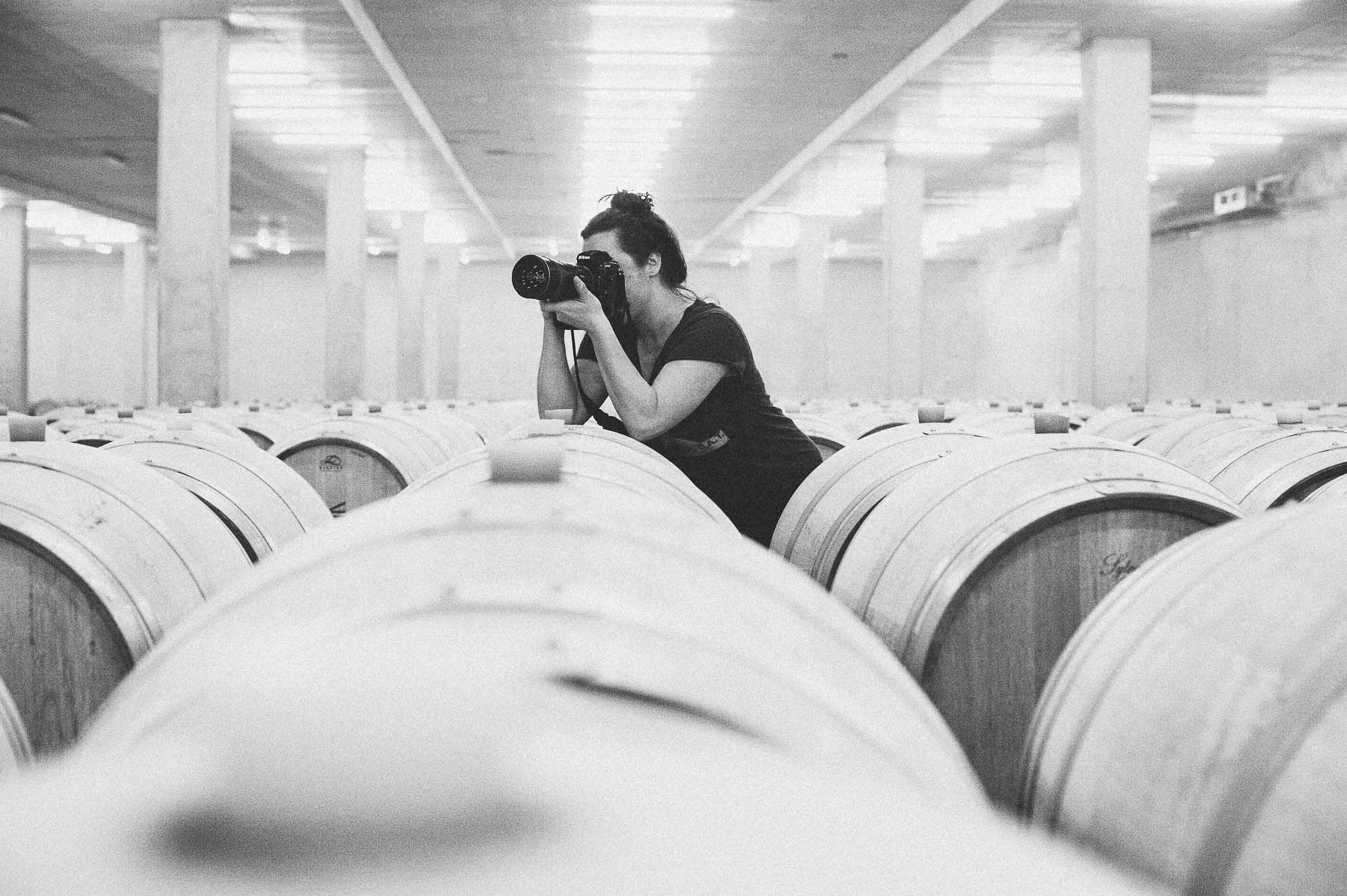 Kristen Penoyer, a Southeast food photographer shoots at a winery in Millahue, Chile.