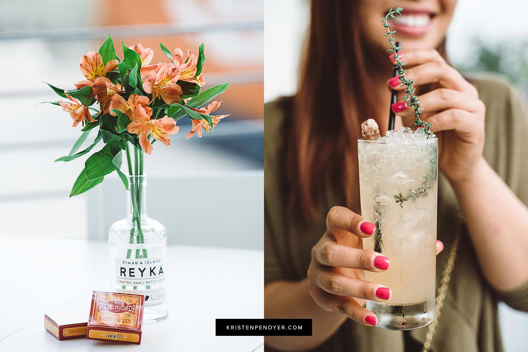 Food and cocktail photography with Reyka Vodka in Jacksonville, Florida.