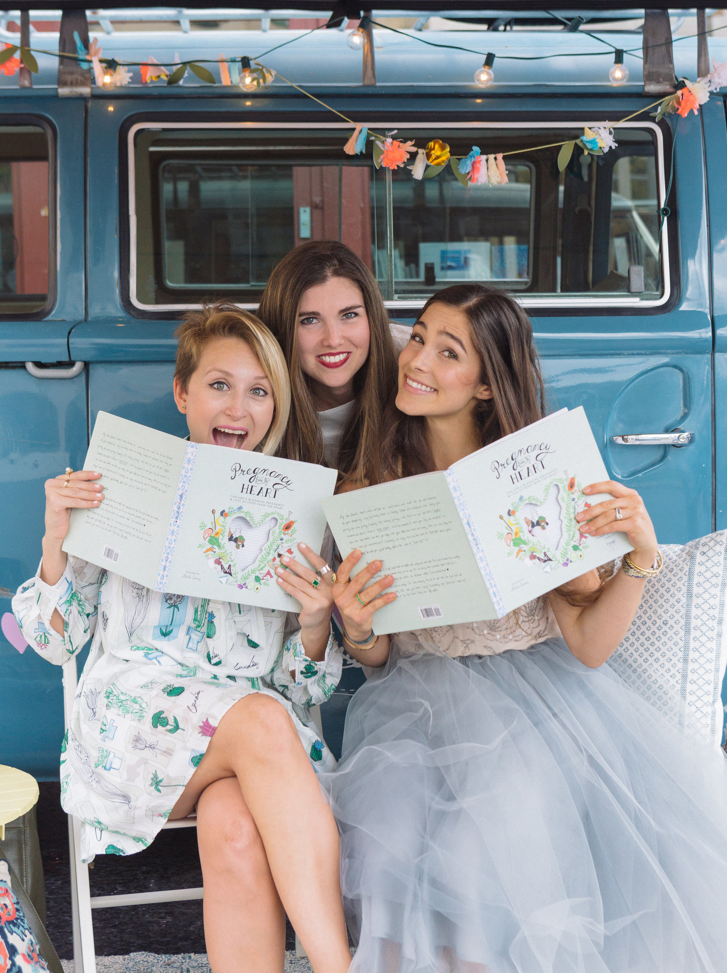 The day of our book Launch Valerie, Daniela and I -Missing Nati Swarz :(