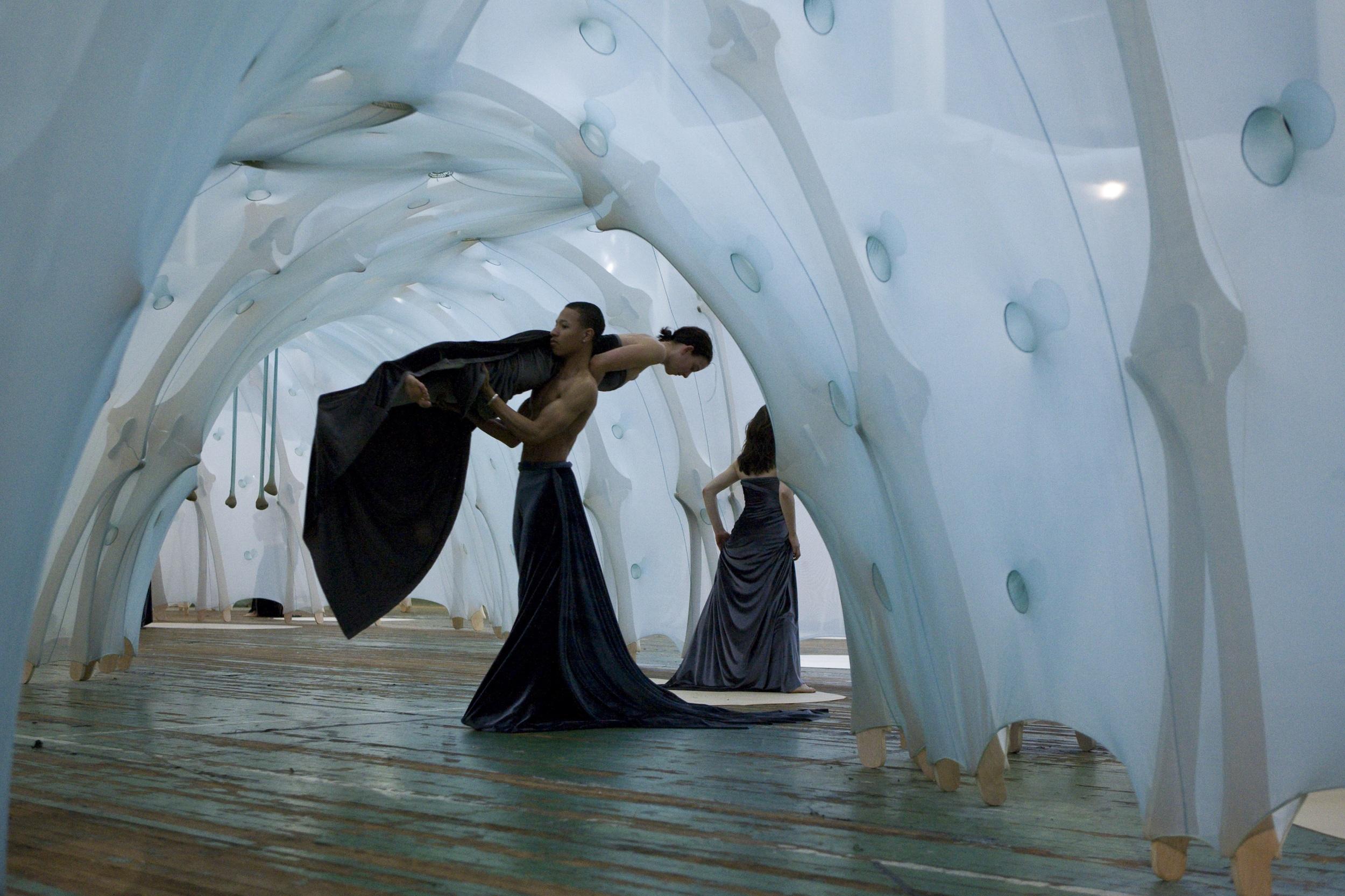 Behind Resonance in response to Ernesto Neto's Anthropodino—  Park Avenue Armory (2009)