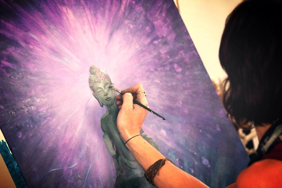 Live Painting by Krystleyez at Rainbow Serpent Festival, Melbourne, Australia, 2013