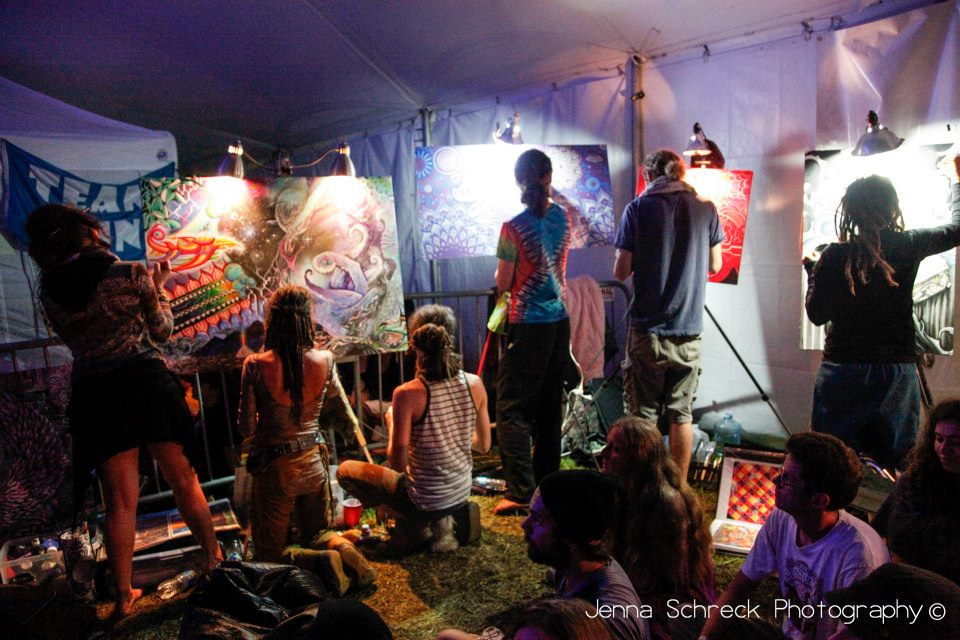 Live Painting at Rootwire Festival, Ohio, 2012