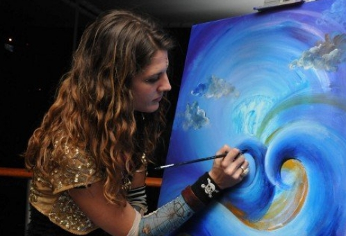 Live Painting by Krystleyez on Jam Cruise, 2010