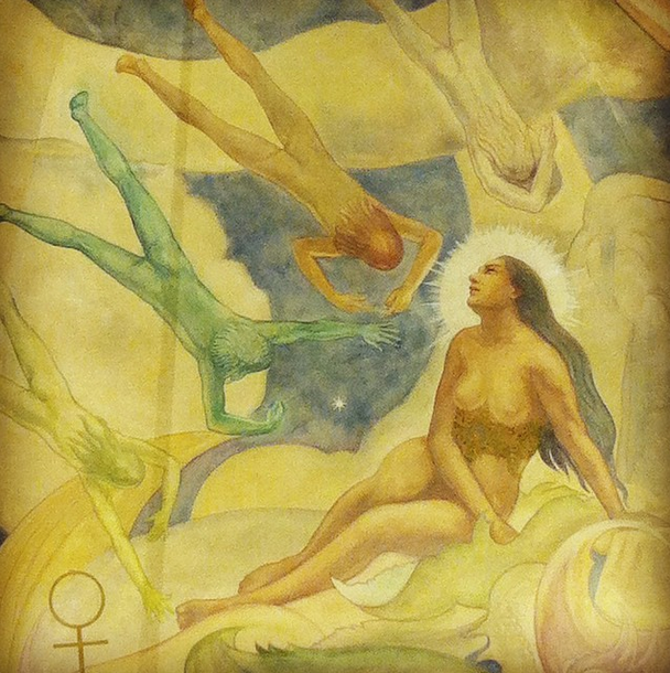 Ceiling mural at the Griffith Observatory.