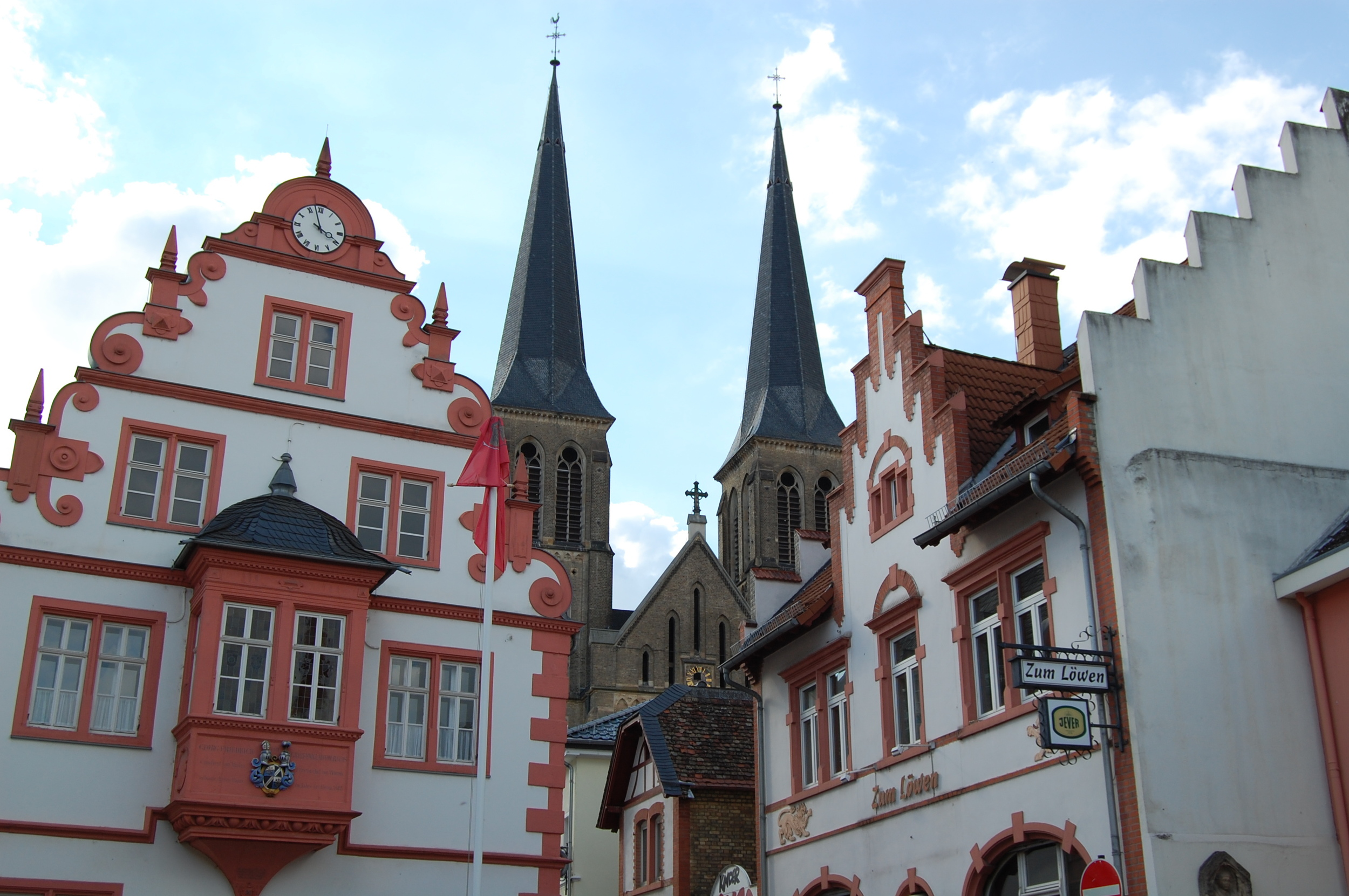 The center square in Gonsenheim.