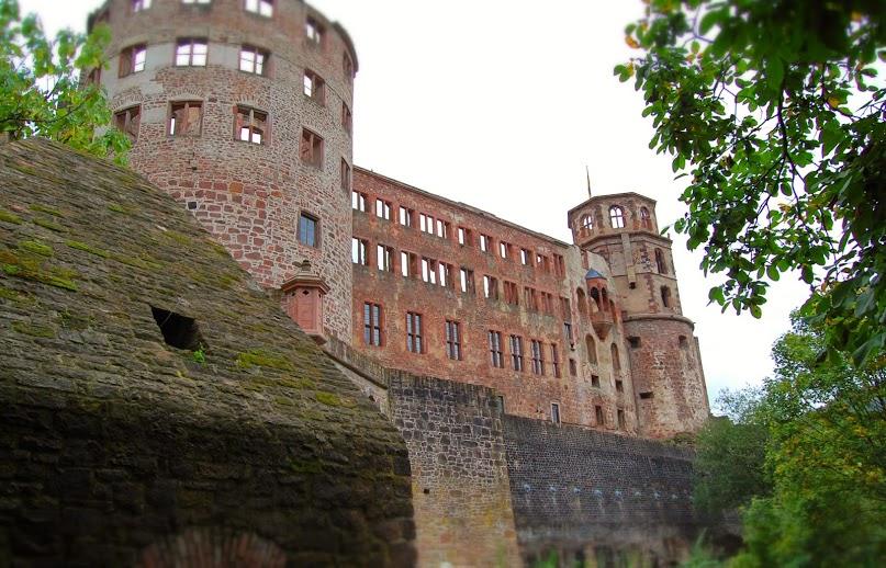 The Schloss at Heidelberg.