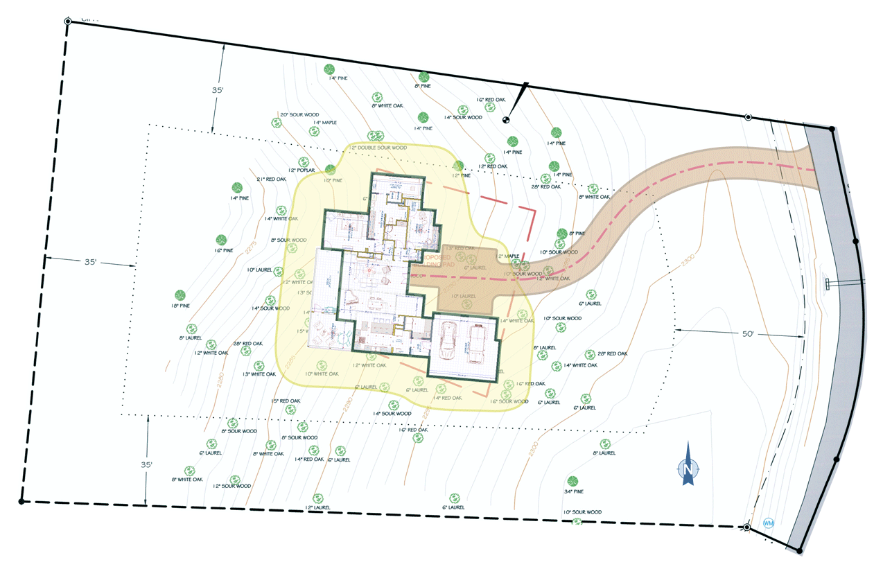 HOUSE POSITION ON OUR LOT  | CLICK TO ENLARGE