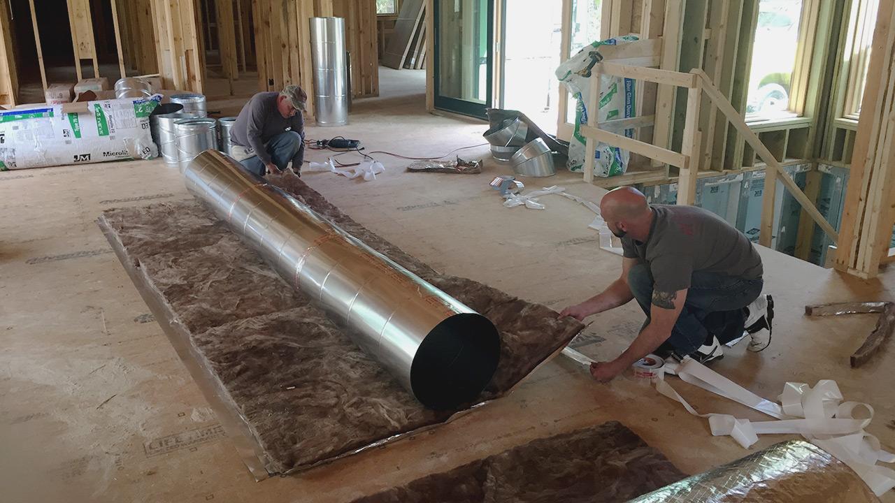 HVAC duct installation