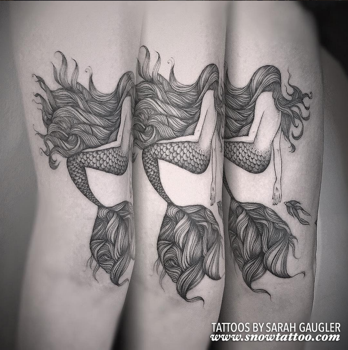 Sarah Gaugler Snow Tattoo Custom Signature Original Mermaid Intricate Detailed Authentic Fine Line Finelinetattoo dotwork Blackwork New York Best Tattoos Best Tattoo Artist NYC SarahgauglerMermaid.png