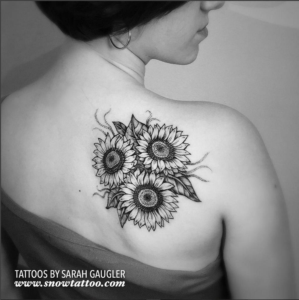 Cusotm+Sarahgaugler+Sunflower+Sunflowers+Sunflowerstattoo+Tattoo+Line+Art+Original+Flash+Tattoo+by+Sarah+Gaugler+at+Snow+Tattoo+New+York+NYC.png