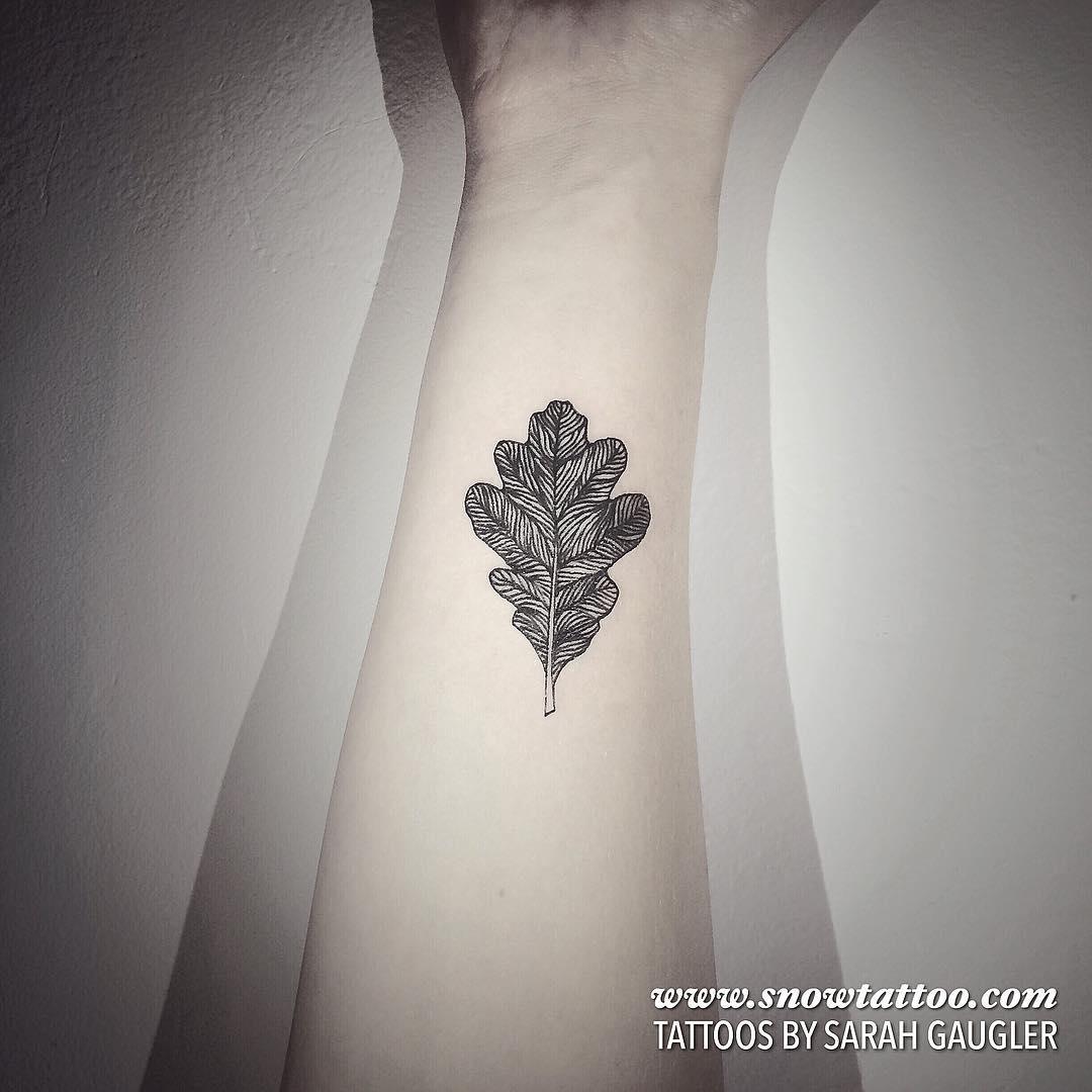 Detailed Custom Leaf Tattoo by Sarah Gaugler.jpg