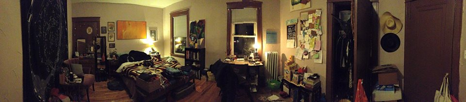 my Worcester apartment, right before i left for New Mexico.