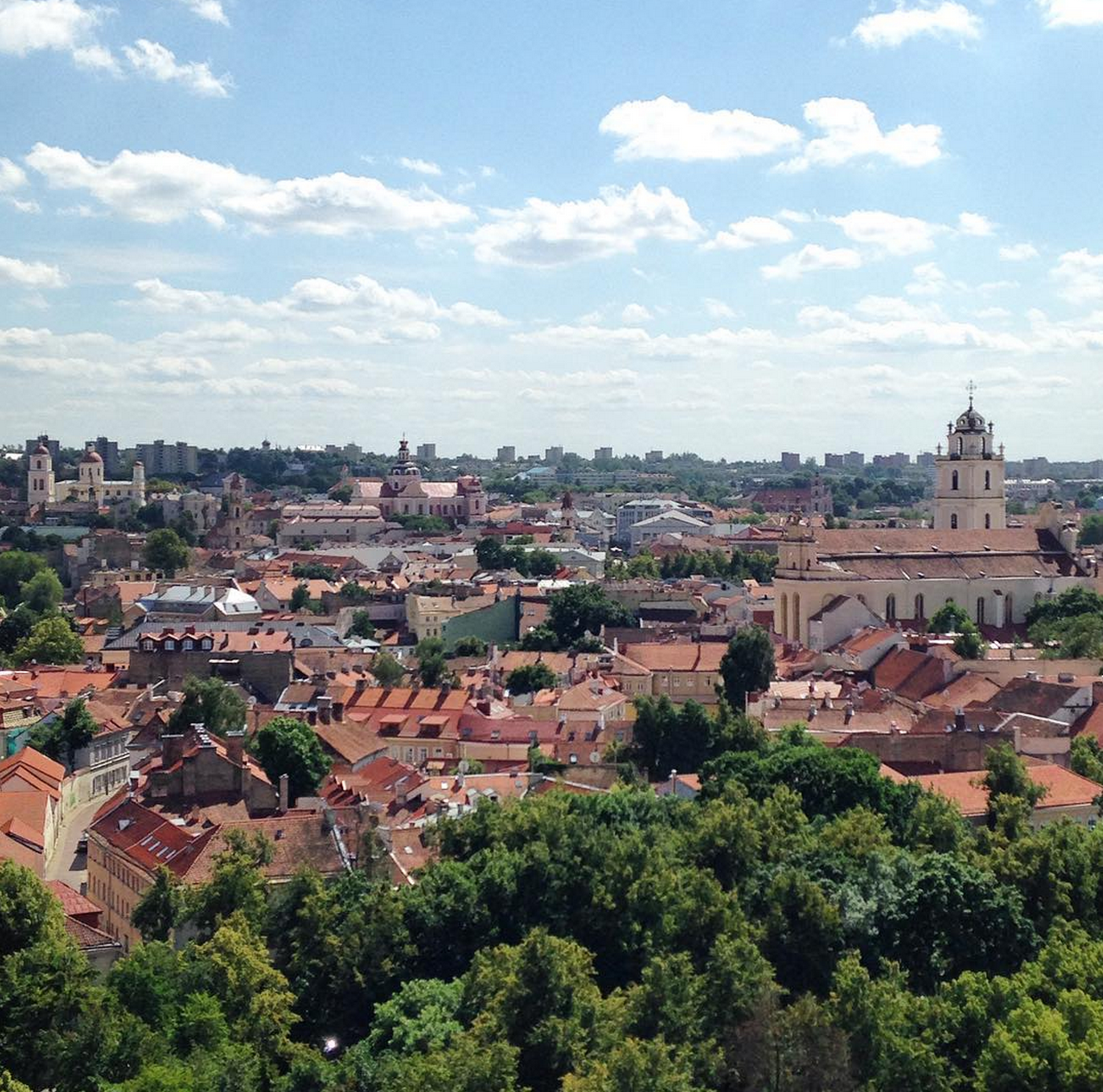 Overlooking the Old Town, Vilnius, Lithuania.