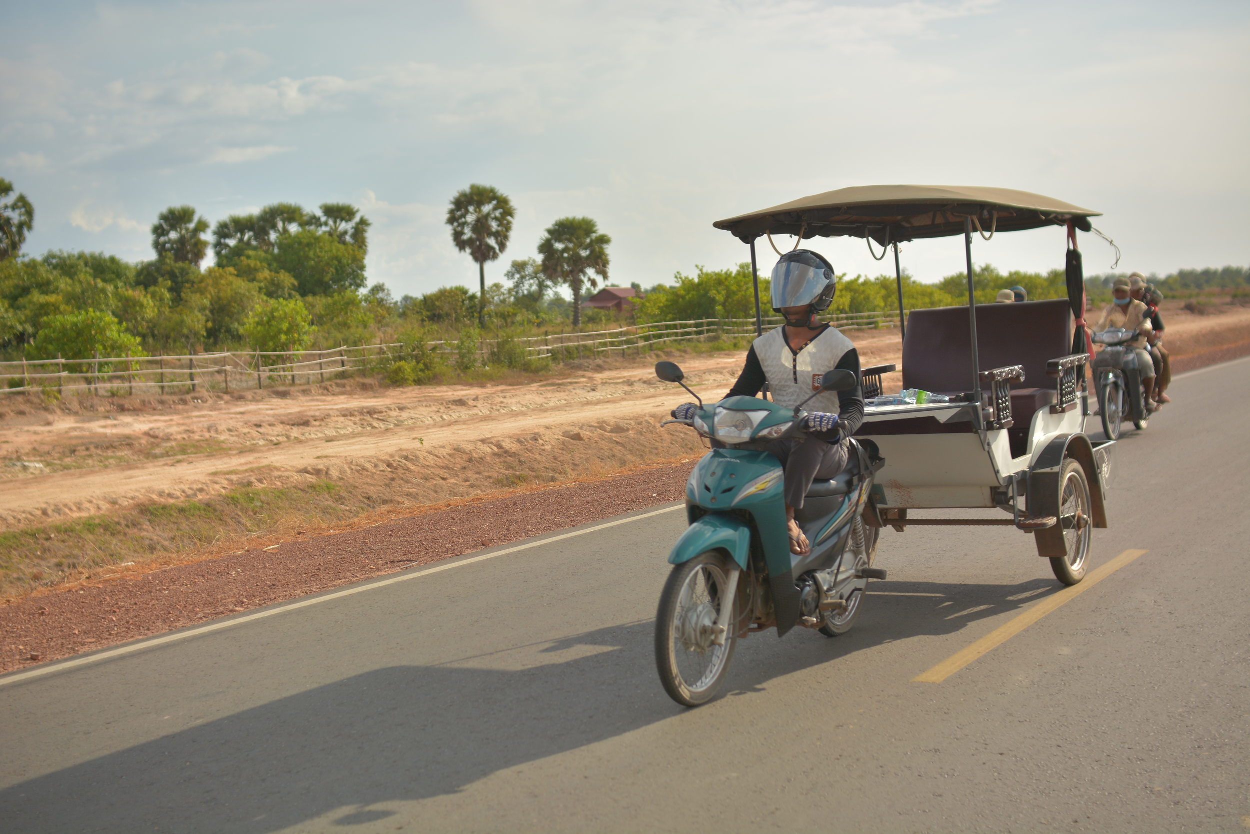 On the road, Siem Reap