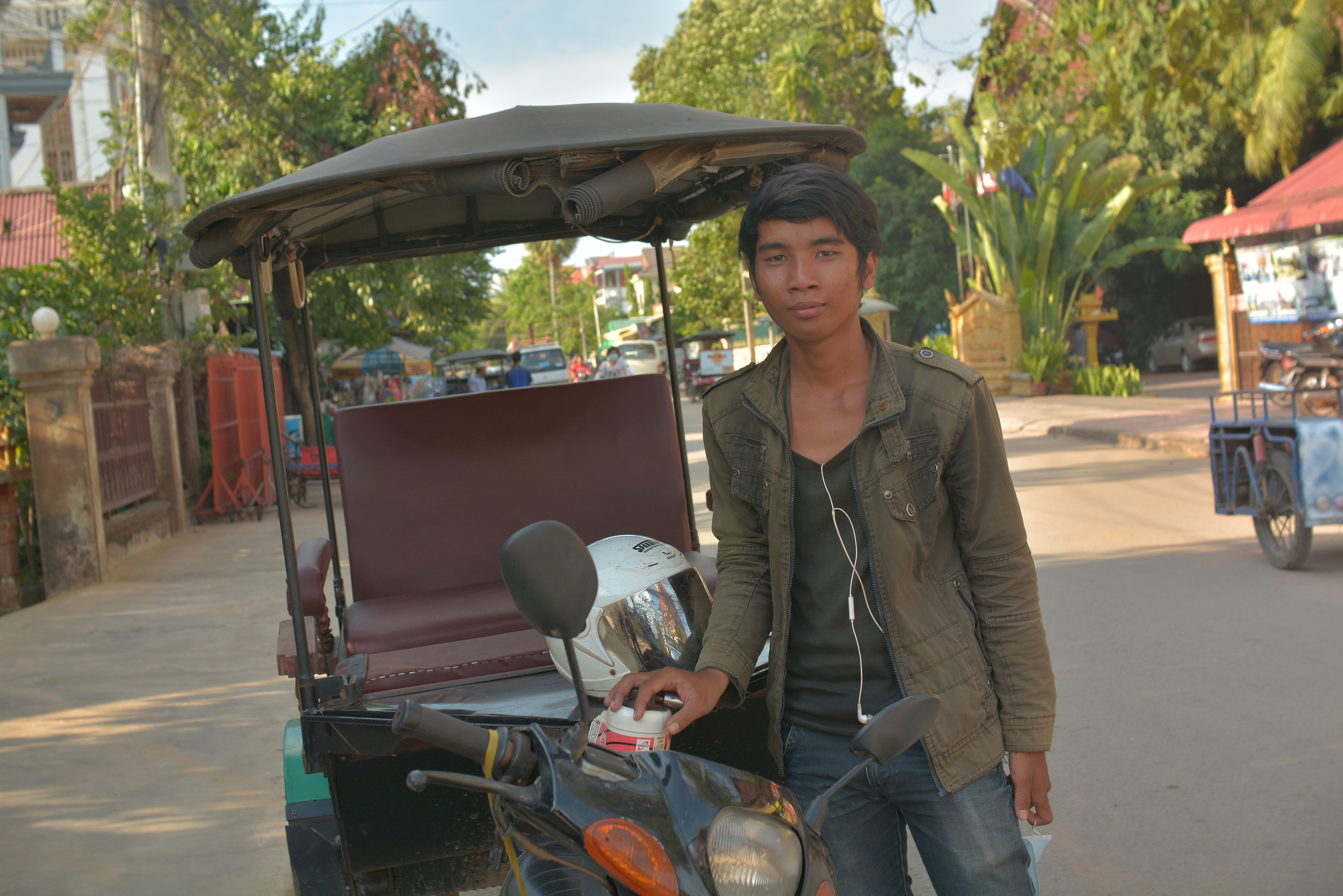 Sky, our very patient and punctual tuktuk driver for three days as we explored the Angkor temple region, Siem Reap.