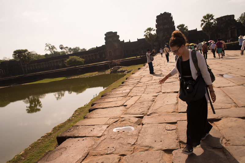 Sophi after seeing in the dawn at Angkor Wat - delirious.