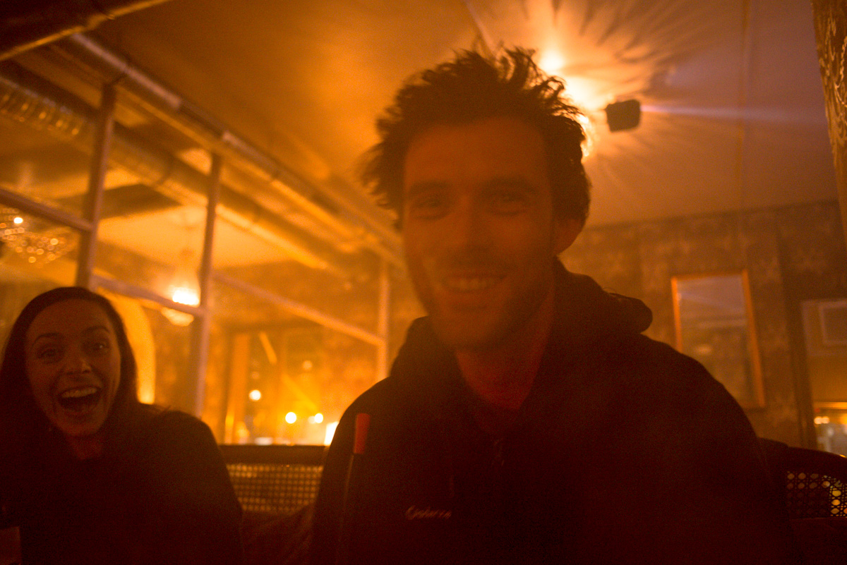 Helen + Mark njoying the Turkish influence on the city - Hookah Pipe Lounge, Berlin