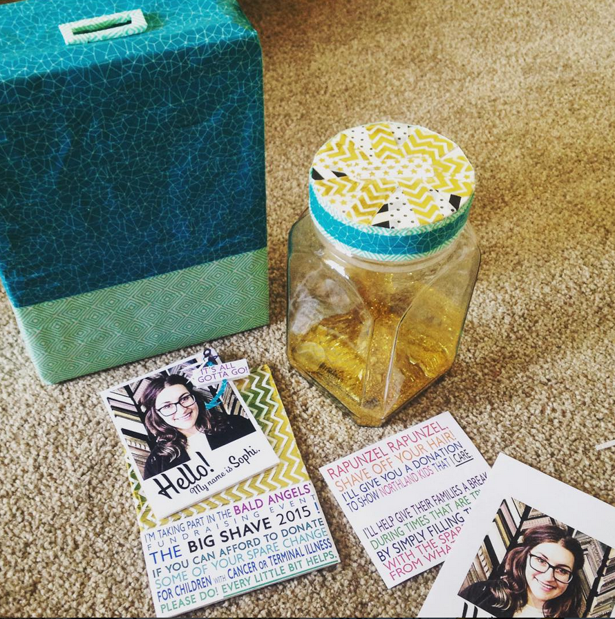 Creating some of the donation boxes!