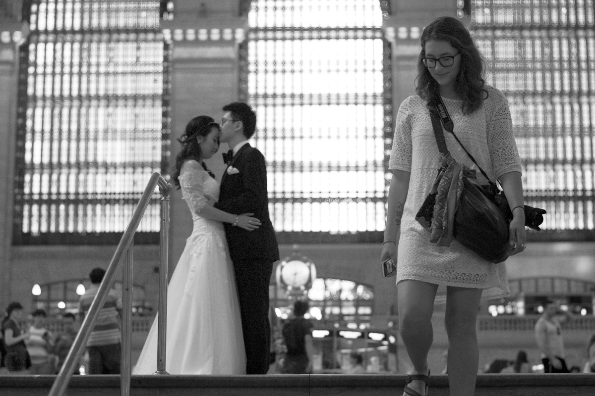 We stumbled into a wedding photoshoot at Grand Central.