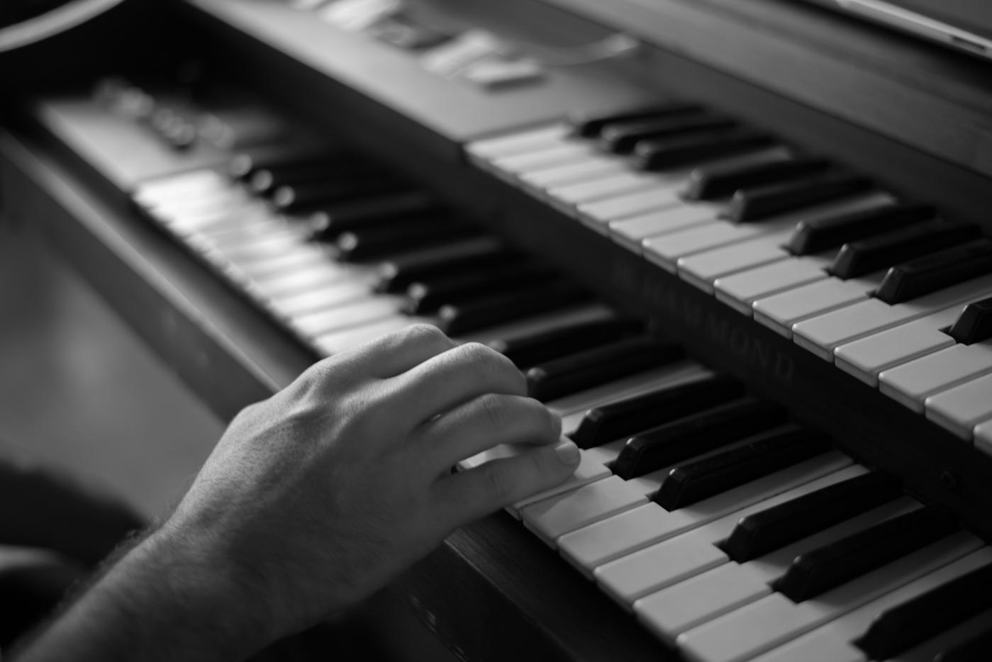 Mark jamming on the keys