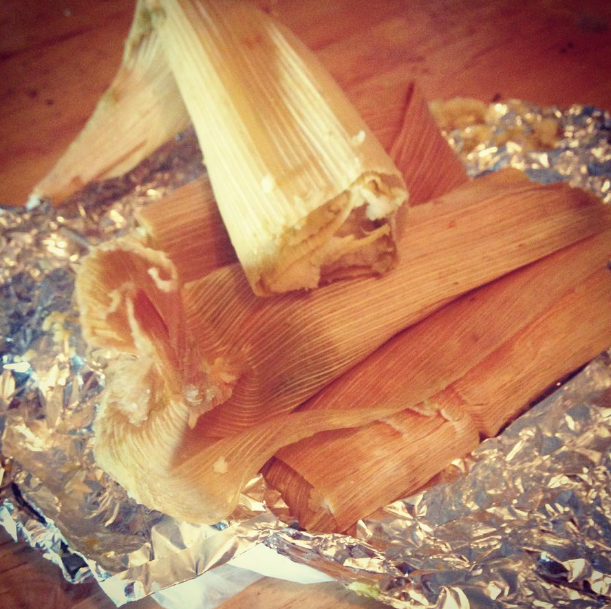 The best tamales. $1 from outside Jefferson St station