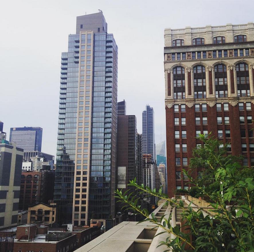 Rooftop garden, midtown Manhattan