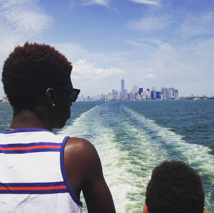 On the ferry to Staten Island