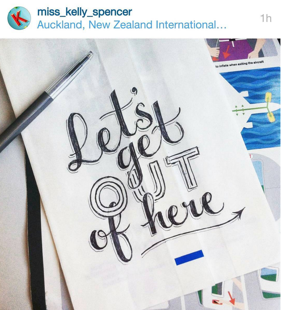 A re-gram from Kelly Spencer - incredi-doodling en route to the Youthline social lab in AKL.