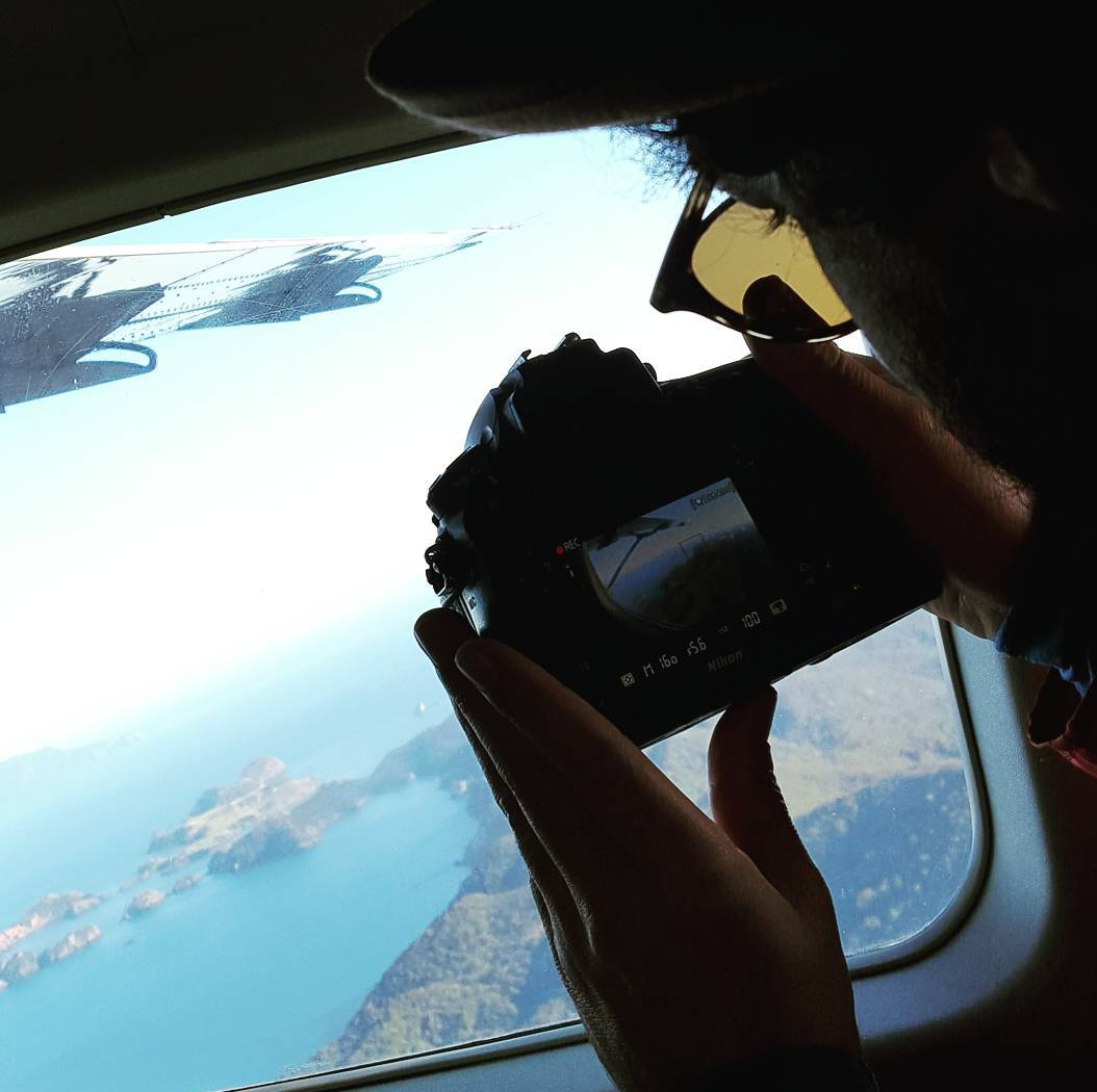 Leaving Great Barrier Island - Ryan had a turn taking over filming duties.