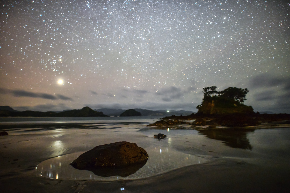 Great Barrier Island - Nightscape, by Mark Russell