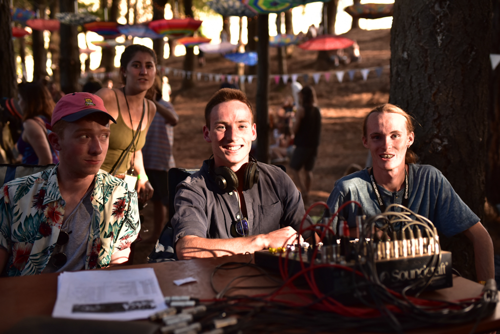 Sound crew at The Forest Stage