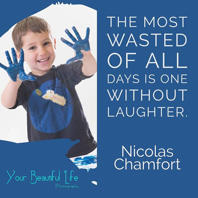 The most wasted of all days is one without laughter.⠀ ⠀ Nicolas Chamfort⠀ ⠀ #AuthenticJoy #yblphoto