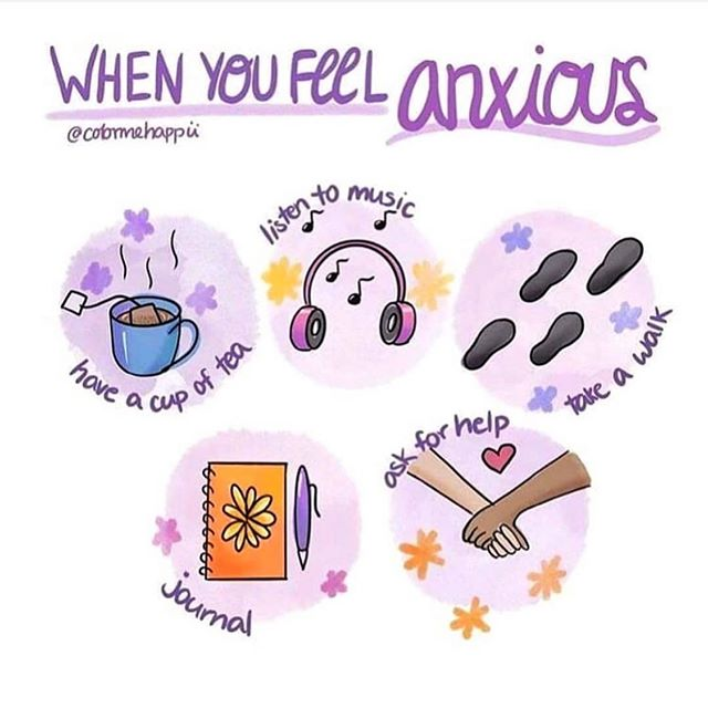 What are some ways you deal with anxiety? ••• Repost of @colormehappii / @anxietyhealer ••• #anxiety #feel #feelings #tea #music #walk #journaling #help #wellness #mentalhealth #support #counseling #atx #cedarpark #cedarparktx #privatepractice #therapy #therapist
